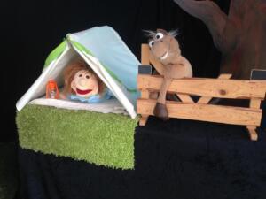 Daan in zijn tent